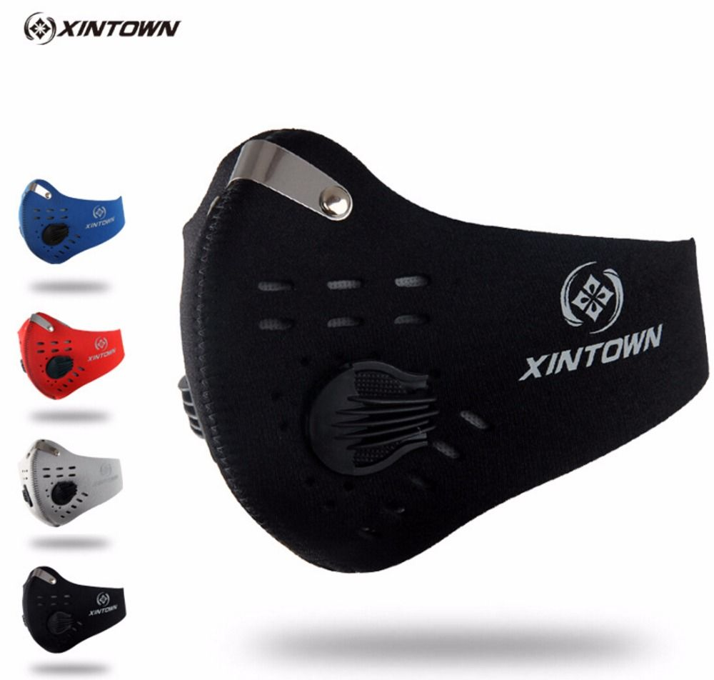 XINTOWN Männer/Frauen Aktivkohle staubdicht Radfahren Gesichtsmaske Anti Verschmutzung Fahrrad Laufen Outdoor maske gesichtsschutz CM2