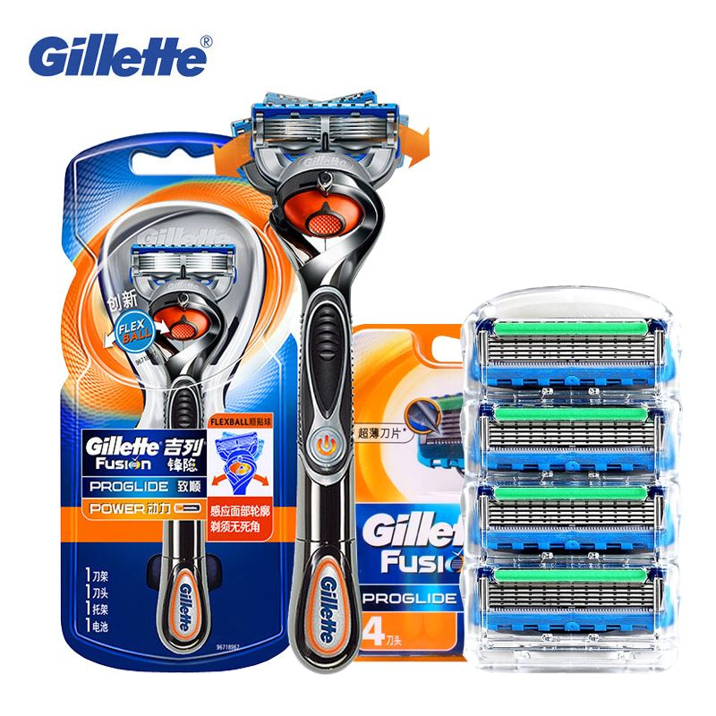 Gillette Fusion Proglide Flexball Power Razor Electric Shaving Razors Blades Safety Shave Men'S Beard Shaver 1 Holder 5 Blade