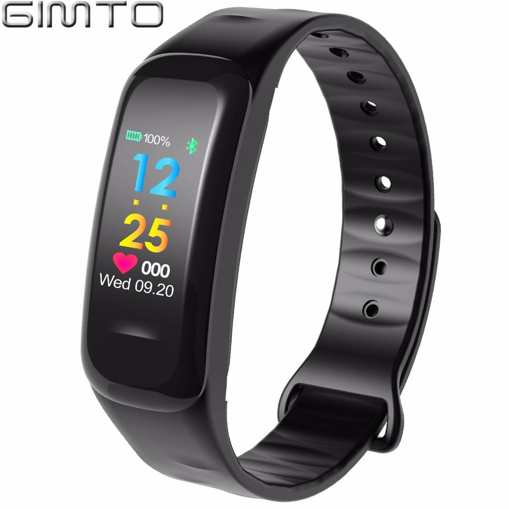 GIMTO Women Men Smart Wrist Band Bluetooth Heart Rate Blood Pressure <font><b>Pedometer</b></font> Clock LED Sport Bracelet Watch For Android IOS