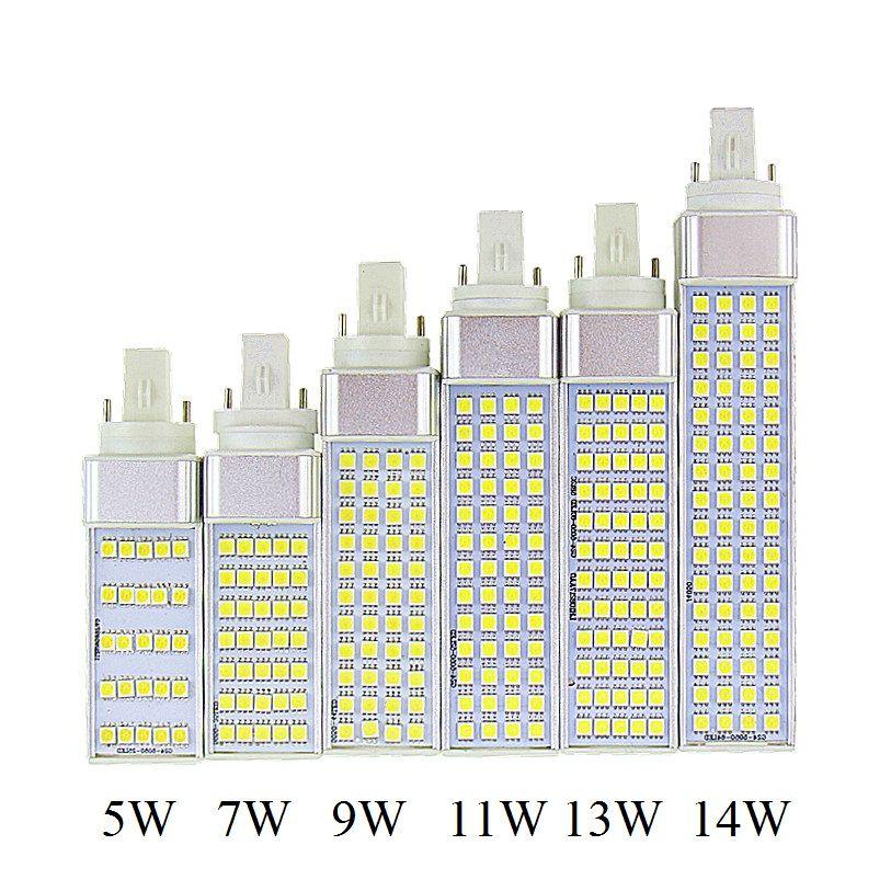 Lampada G23 G24 E27 5 w 7 w 9 w 11 w 13 w 14 w 85 v-265 v/AC Prise Horizontale lampe SMD5050 Bombillas A MENÉ L'ampoule De Maïs CE RoHS de lumière de Tache de