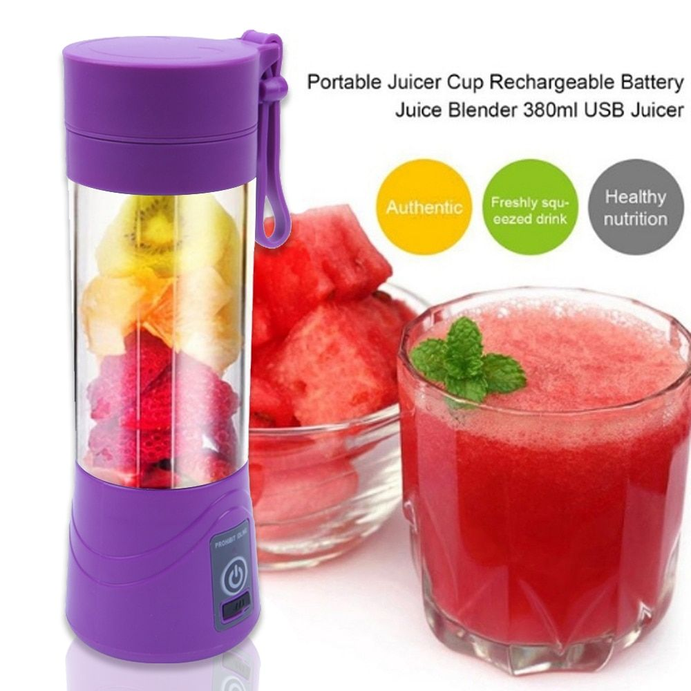 380ml USB Portable Blender Mixer Rechargeable Mini Juicer Juice Machine Smoothie Maker Household Juice Extractor Drop Shipping