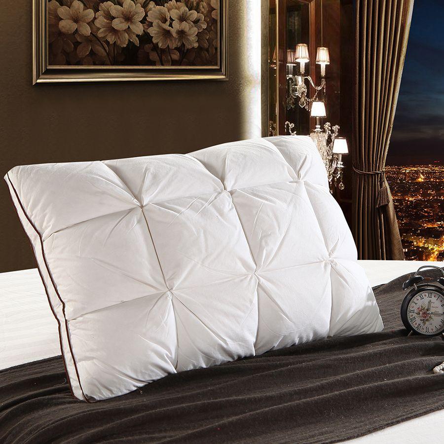 Peter Khanun 48*74cm conception de marque 3D pain blanc canard/duvet d'oie oreiller Standard antibactérien élégant Textile à la maison 014