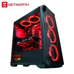 GETWORTH R35 gama alta Gaming escritorio I7 8700 K 1060 240g SSD 8g RAM Z370 marca nuevo rojo serie refrigeración de agua de PC