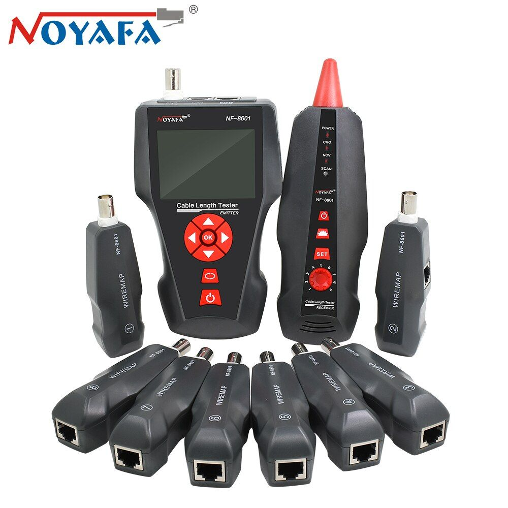 Original Noyafa NF-8601W Wire Tracker for BNC PING POE RJ11 Telephone Line RJ45 LAN Network Cable Tester Diagnose Tone Detector