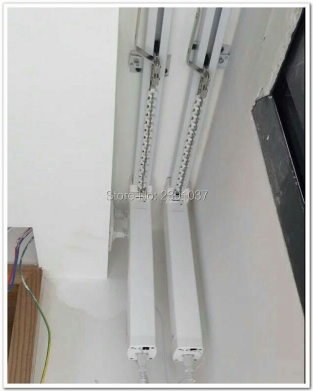 Brand New SILENT motorized Double curtain track, smart home used motorized curtain, DOOYA motor DT82TN curtains for living room