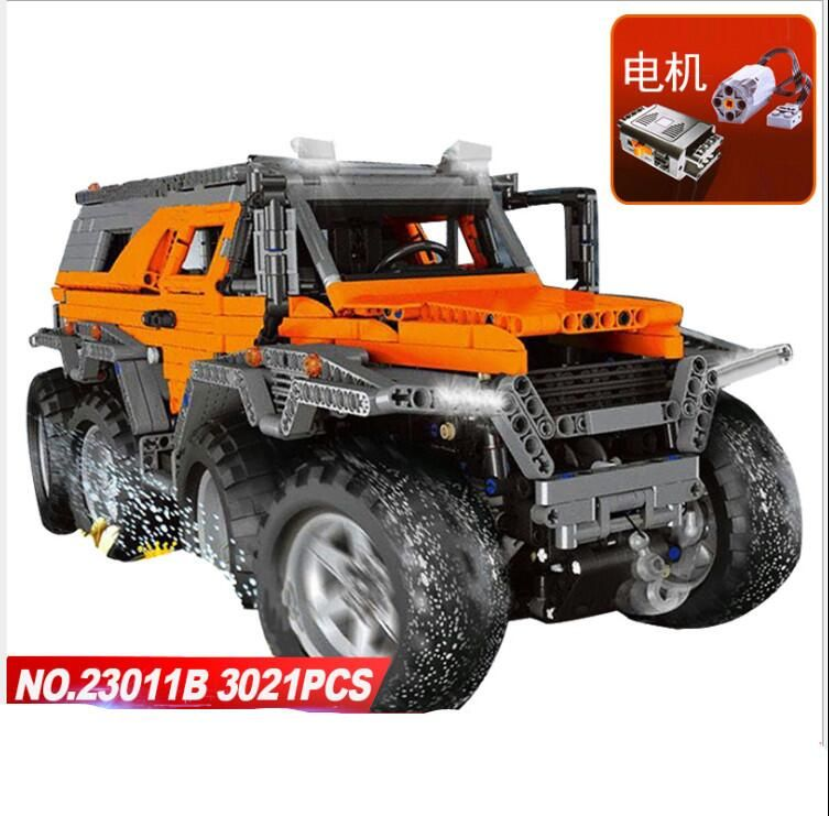 LEPIN 23011&23011B Technic Series Off-road Vehicle Diy Model Building Kits Block Brick Toys For Kids gift Compatible Legoed 5360