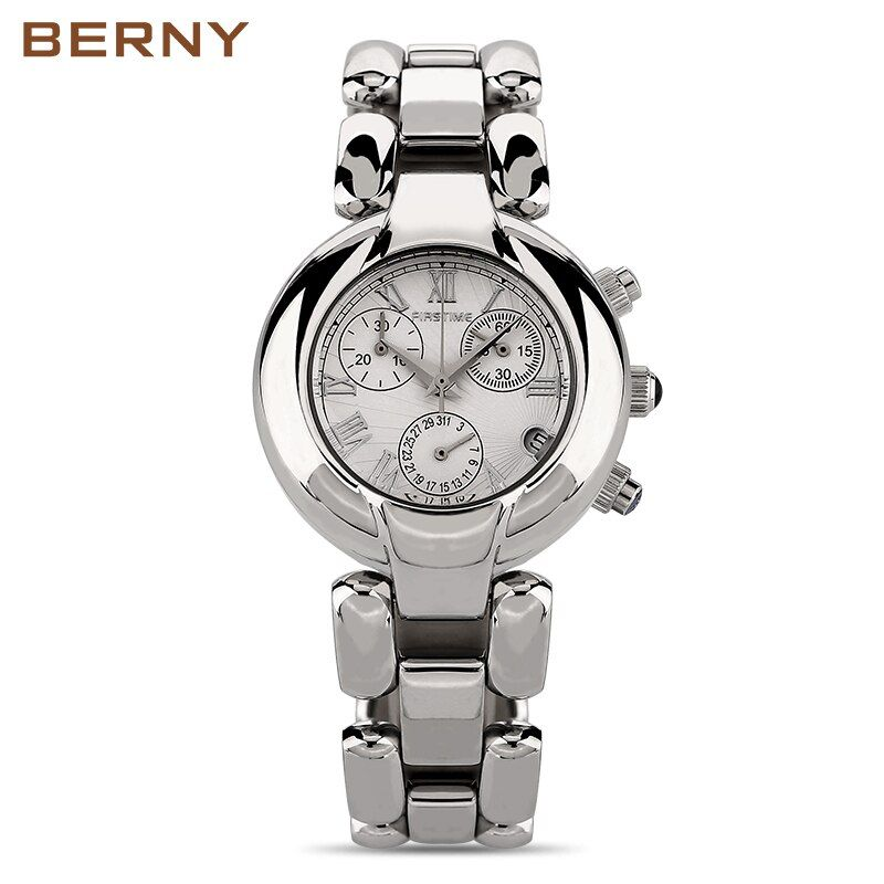 BERNY Stainless Steel Wristwatch Bracelet Quartz Watch Woman Ladies Watches Clock Female Dress Designer Watches Girl Gift 2814L