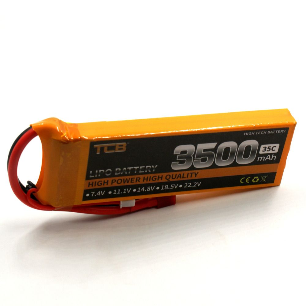 TCB RC Drone lipo battery 7.4v 3500mAh 35C 2s for RC airplane quadrocopter helicopter Li-ion batteria free shipping