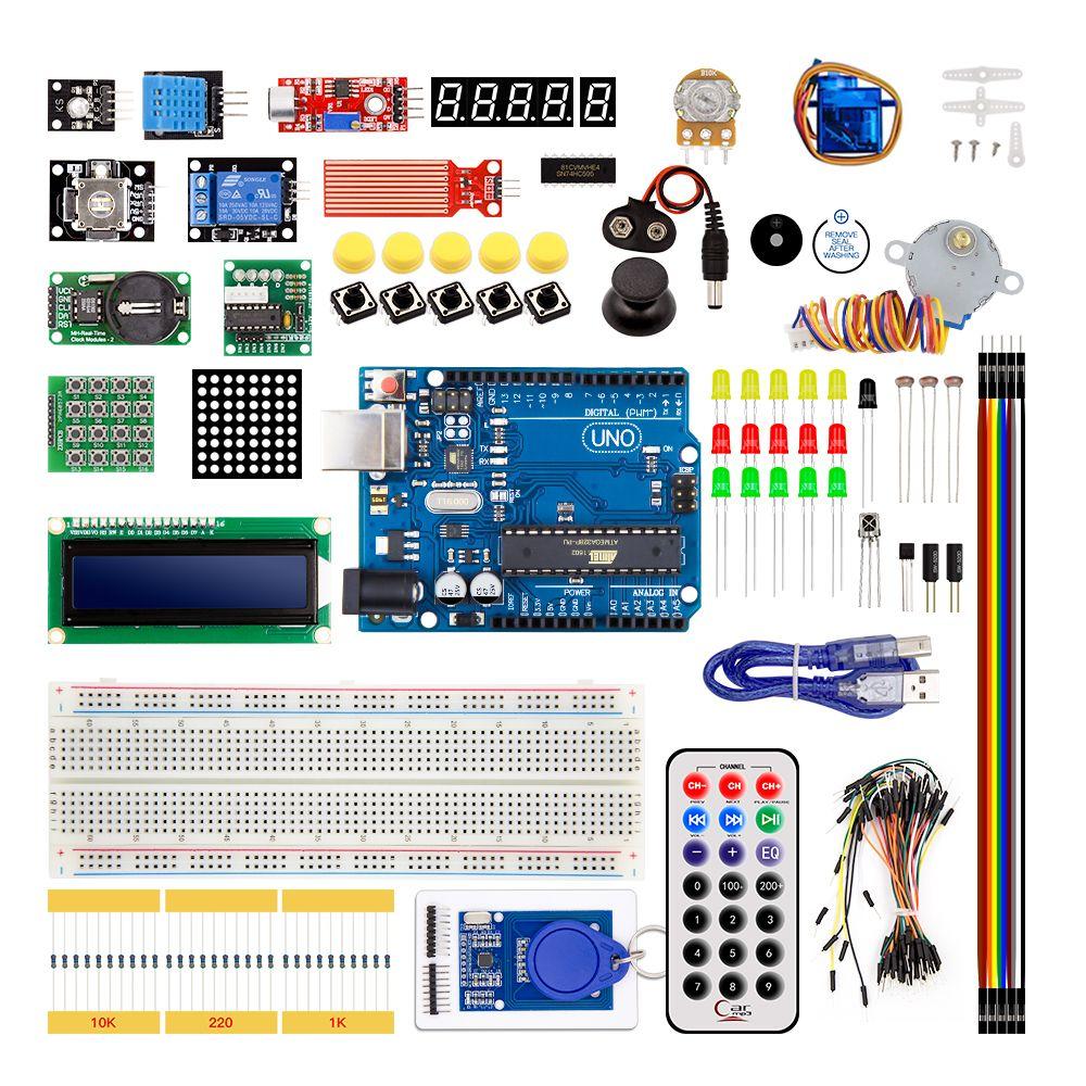 UNO R3 KIT version Améliorée pour Arduino Starter Kit RFID Apprendre Suite Stepper Motor + ULN20031 ensemble