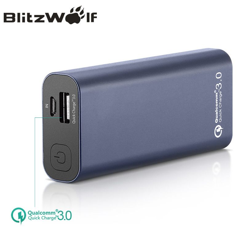 BlitzWolf BW-P4 5200 mAh Energienbank Tragbare QC3.0 Quick Charge Telefon Energienbank Externe Batterie Für iPhone Für Xiaomi Power