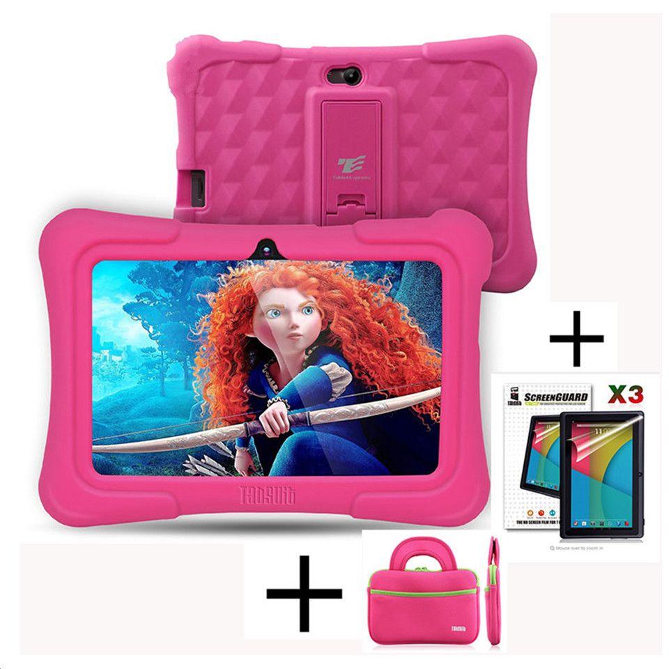 DragonTouch Y88X Plus 7 zoll Kinder Tablet für Kinder Quad Core Android 5.1 + Tablet tasche + Displayschutz Besten geschenke für Kind