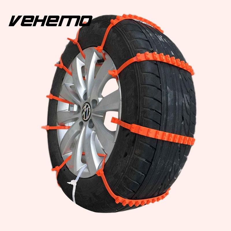 10Pcs Plastic car anti-skid chains tire snow chains wheel tyre for cars Good antiskid effect