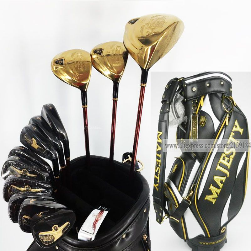 New Golf clubs set Maruman Majesty Prestigio 9 Golf Complete Set 9 5 or10 5 loft Graphite Golf shaft and clubs Bag Free shipping