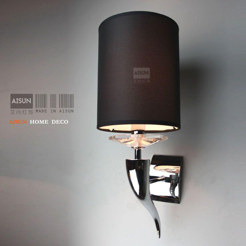 Post-modernen minimalistischen persönlichkeit Kunst claw horn geweih wandleuchte schlafzimmer nachttischlampen stoff wandleuchte