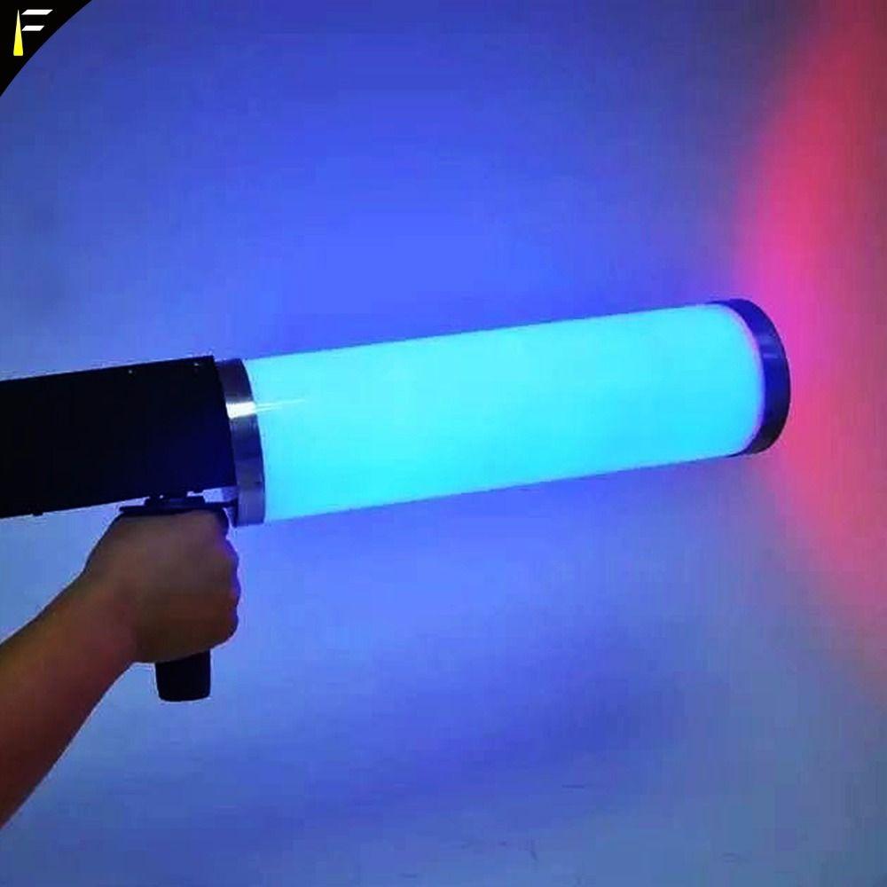 Beliebte LED CO2 Kryo Club Kanone Cryogenic Spezielle Effekte Pistole Co2 Jet Maschine LED Kryo Gun RGB 6 PCS x 3 w Farbe Waschen
