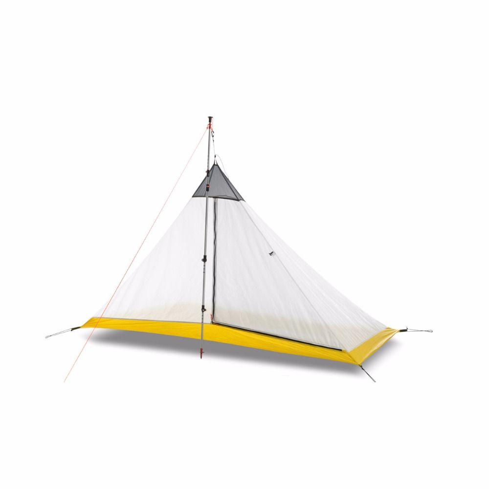 FLAME'S CREED Ultraleicht 1-2 Person silicon beschichtung innen zelt im freien 3/4 jahreszeiten camping zelt Kolbenstangenlosen Pyramide große Zelt
