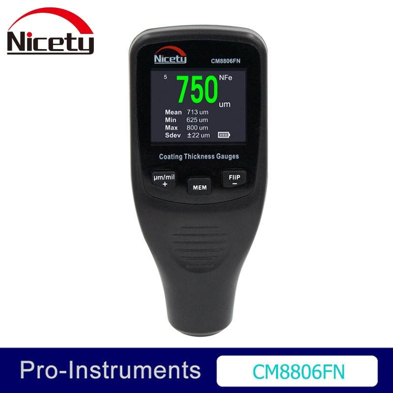 Nicety CM8806FN Car Body <font><b>Tester</b></font> Detailing Tool Auto Coating Thickness Gauge Car Paint meter 50mil 1250um <font><b>Tester</b></font>