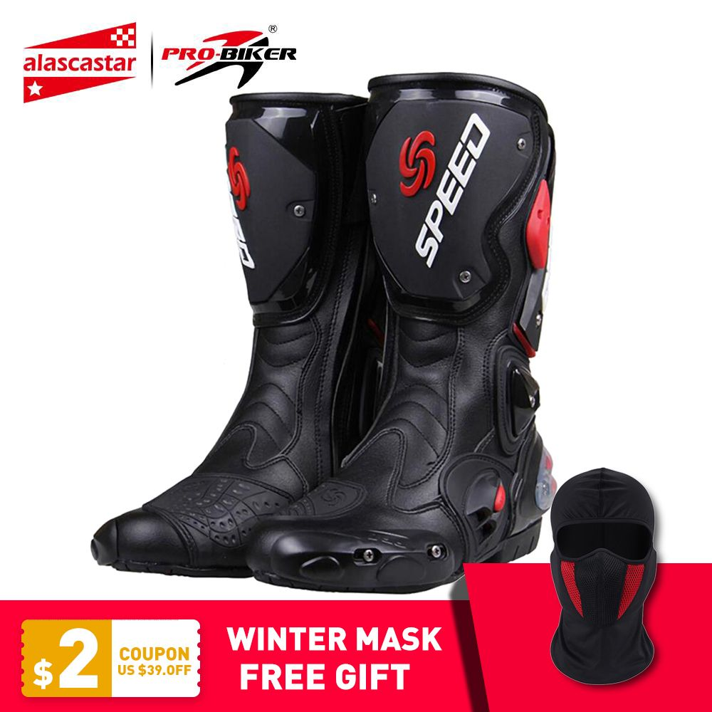 PRO-BIKER SPEED BIKERS Motorcycle Boots Moto Racing Motocross Off-Road Motorbike Motorcycle Shoes Botas Moto Botas Riding Boots