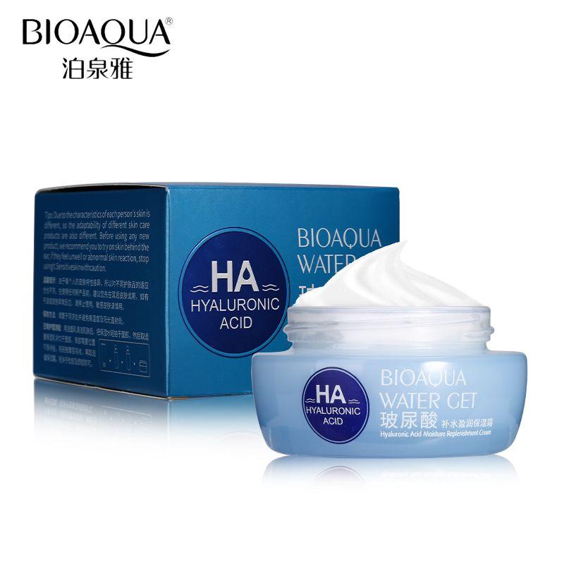 BIOAQUA Marque Acide Hyaluronique Crème Hydratante Visage Améliorer La Peau Sèche Anti-Rides Anti-Âge Collagène Blanchissant Crème de Jour 50g