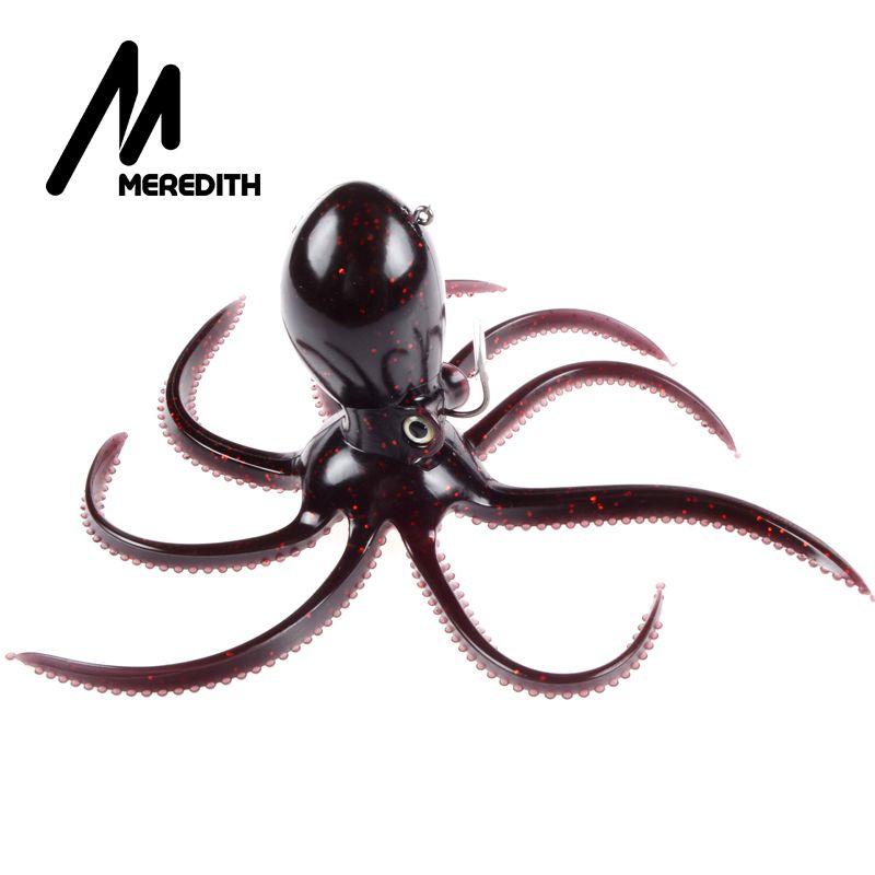 MEREDITH FISHING 180g 20cm long <font><b>tail</b></font> soft lead Octopus fishing lures Retail