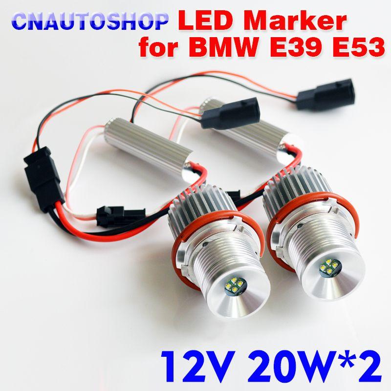 hippcron Angel Eyes for BMW E65 E87 E39 E60 E61 LED Marker 2*20W 40W for CREE LED Chips White/Red/Blue/Yellow