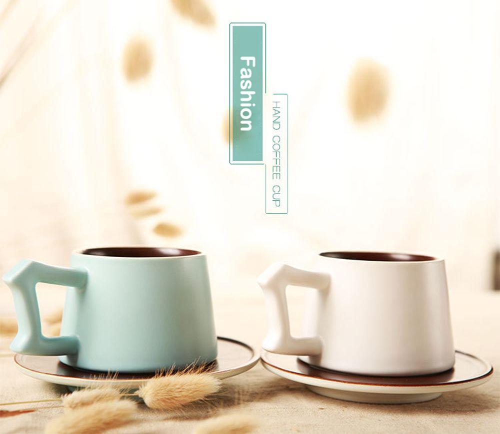 Japonais style De Luxe Émail Café Tasse Mis En Céramique Thé Lait Verres De Mode Creative Chine Os Ami Cadeau