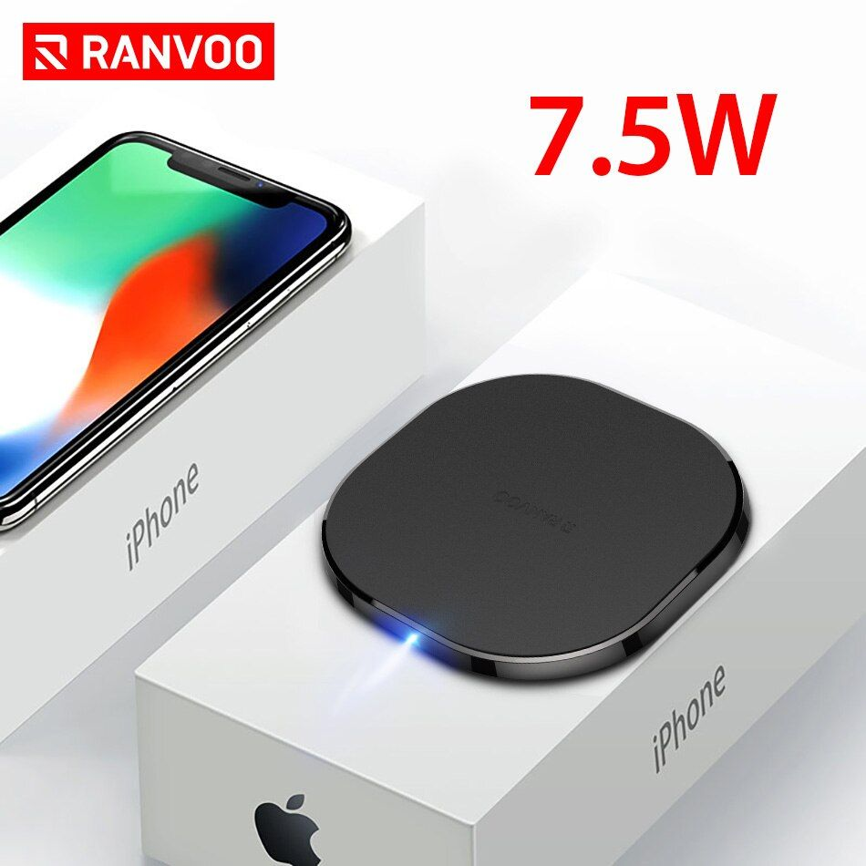 RANVOO Wireless Charger QI 7.5W Fast Wireless Charger for iPhone 8 X 10W Quick Wireless Charger for Samsung S8 S9 S9+ Note 8