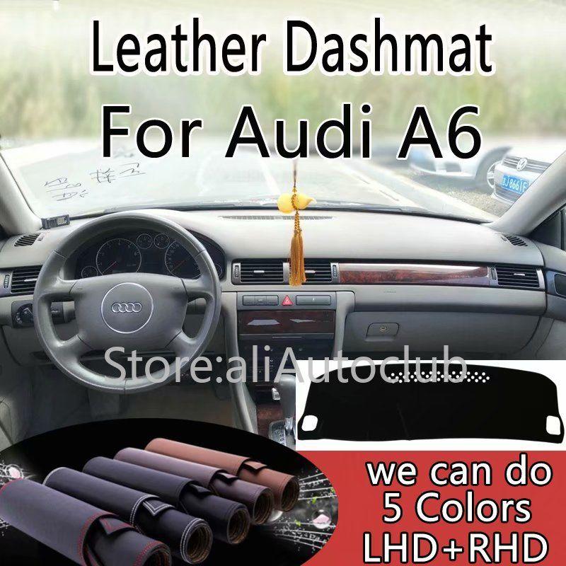 Für Audi A6 C5 1998 1999 2000 2003 Leder Dashmat Dashboard Abdeckung Pad Dash Matte Sonnenschirm Teppich Nach Abdeckung Auto styling LHD + RHD