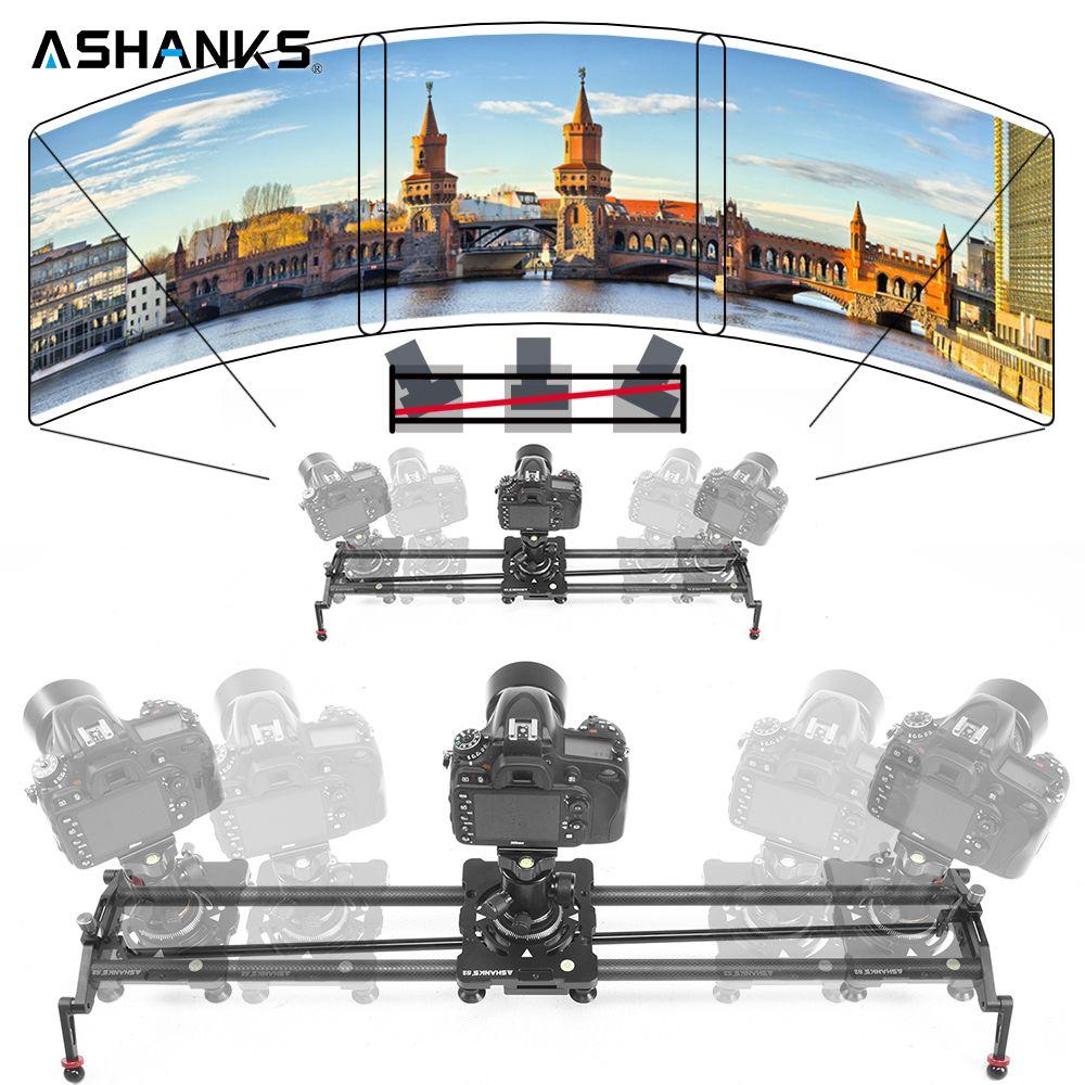 ASHANKS S2 Camera Track Slider Carbon Fiber Adjustable Angle Tube Follow Focus Pan for Stabilizer DV DSLR Camera Video Shooting