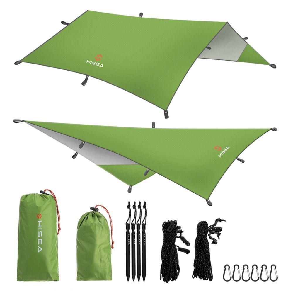 Hisea Hammock Rain Fly Tent Tarp Shelter - Camping Shelter Rainfly Sun Shelters and Sunshade for Beach, Picnic