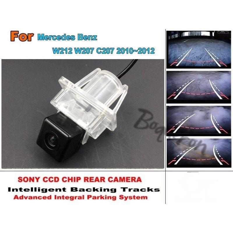 For Mercedes Benz E Class MB W212 W207 C207 2010~2012 Smart Tracks Chip Camera HD CCD Intelligent Dynamic Rear View Camera