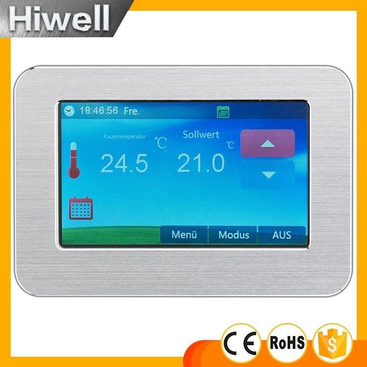 HT-CS01 Grand écran Couleur Tactile Écran Thermostat Thermostat D'ambiance Chauffage Au Sol Électrique Thermostat 16A interrupteur