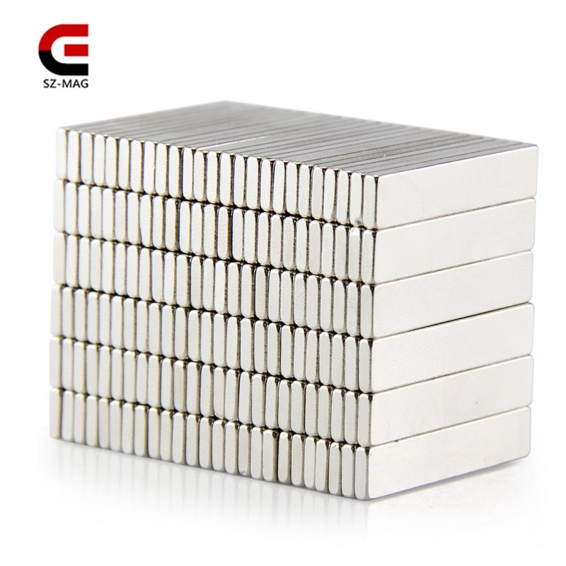 100pcs 50pcs 25pcs 25x5x1.5mm Permanet Customizable magnet Strong Rare Earth Bar Neodymium Magnets N50 slices