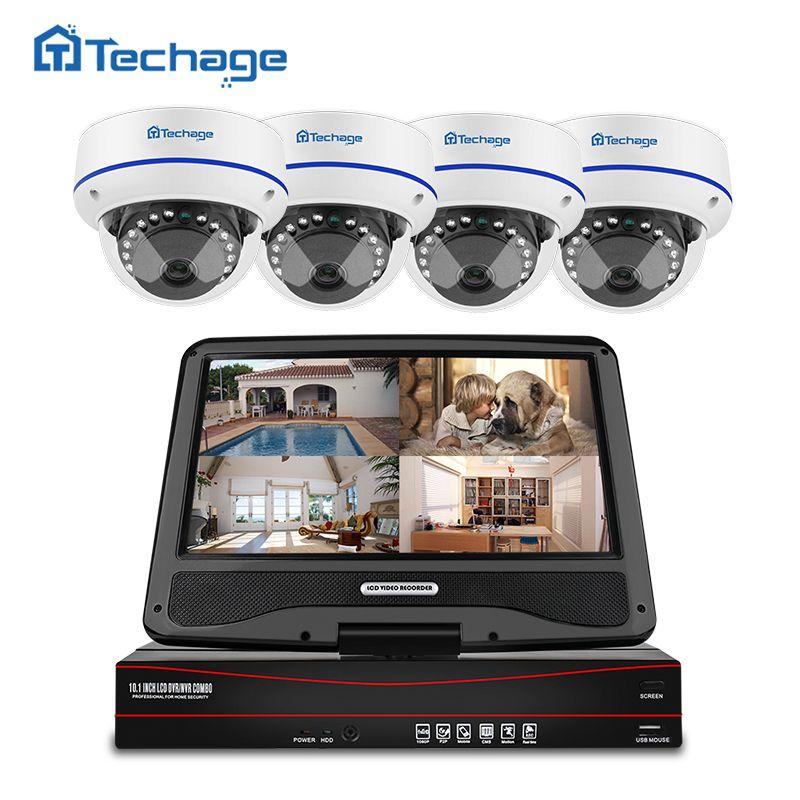 Techage 8CH 1080P POE NVR CCTV System 10.1
