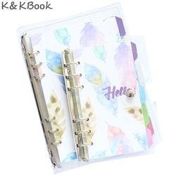 K & Notbook KBOOK KK201 Kawaii PVC Penutup Spiral Notebook Diary Transparan A5 Lucu Planner Personal A7 A6 A5 Pengikat Agenda Planner