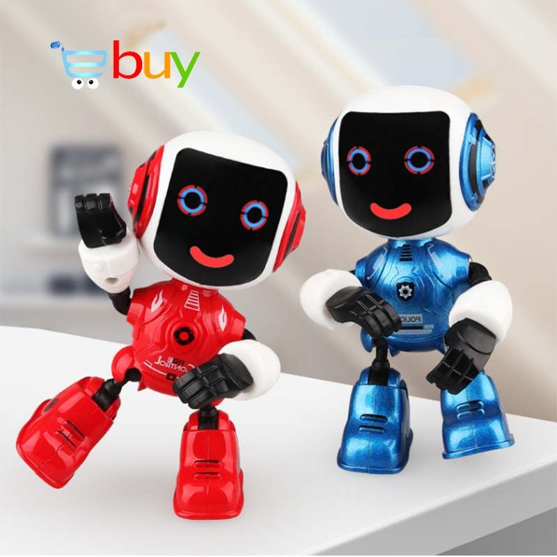 Alloy Electric Touch Sensing Smart Robot Toys for Children Kids Early Educational Induction Voice Phone Holder Model Decoration