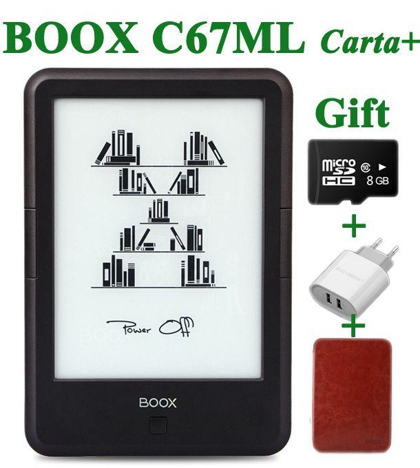 Original ONYX BOOX C67ML carta+ ebook reader 6 8G wifi eink touch screen <font><b>3000mAh</b></font> pocket books gift pu cover& 8Gtf card e book