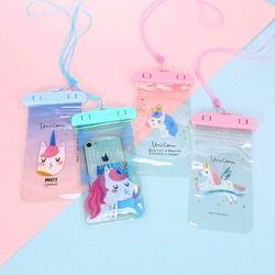 Corea Flamingo Cactus unicornio impermeable bolsa de teléfono celular para iPhone Samsung titular de la tarjeta monedero almacenamiento bolsa monedero