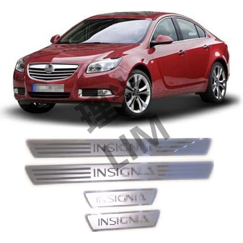 Convient pour OPEL VAUXHALL Insignia en acier inoxydable Surface de miroir plaque de seuil de porte couverture garniture accessoires de style de voiture