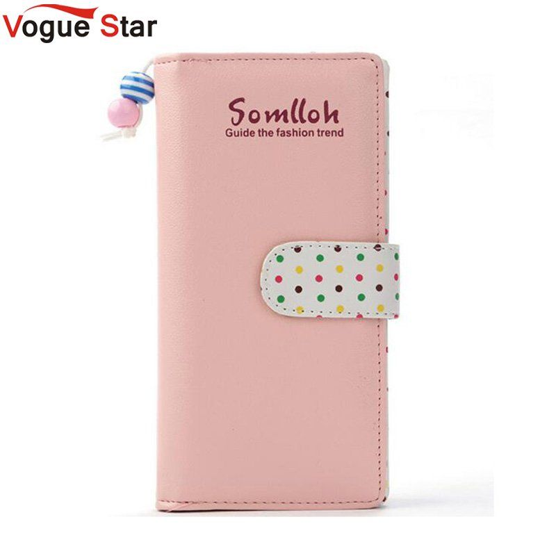 Fashion Women Wallets Long wallet PU leather Candy Colors Zipper polka dot Small Wallet Coin Purse Cards Holder Money Bag LB241