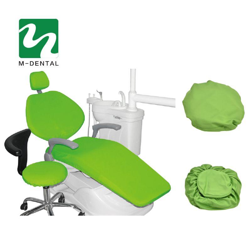 4 Unids/set Alta Elástica Dental Unidad Dental Cubre Silla Cubierta de Asiento Conjunto Estuche protector Protector de Asiento Kit