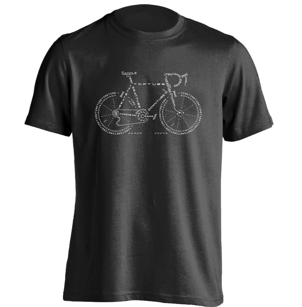 Vélo Hommes et Femmes Frais Personnalisé T Shirt Rétro Tee