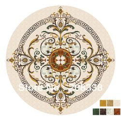 Natural marble medallion, waterjet marble inlay medallion,.Luxury flooring design