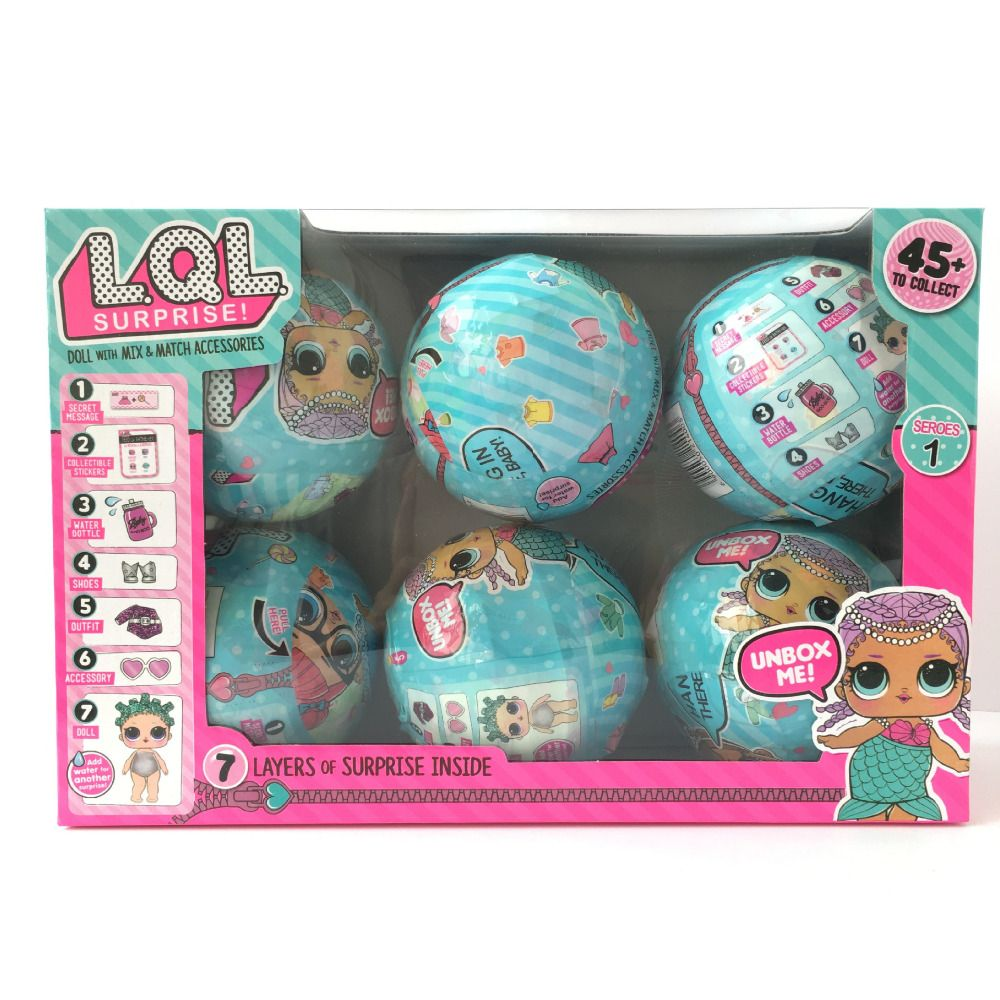 6pcs/set Series 1 LOL Surprise Doll Color Change Egg Ball Toys Dress Up Toy Action Figure Dolls Funny Toys Girls Gift Randomly