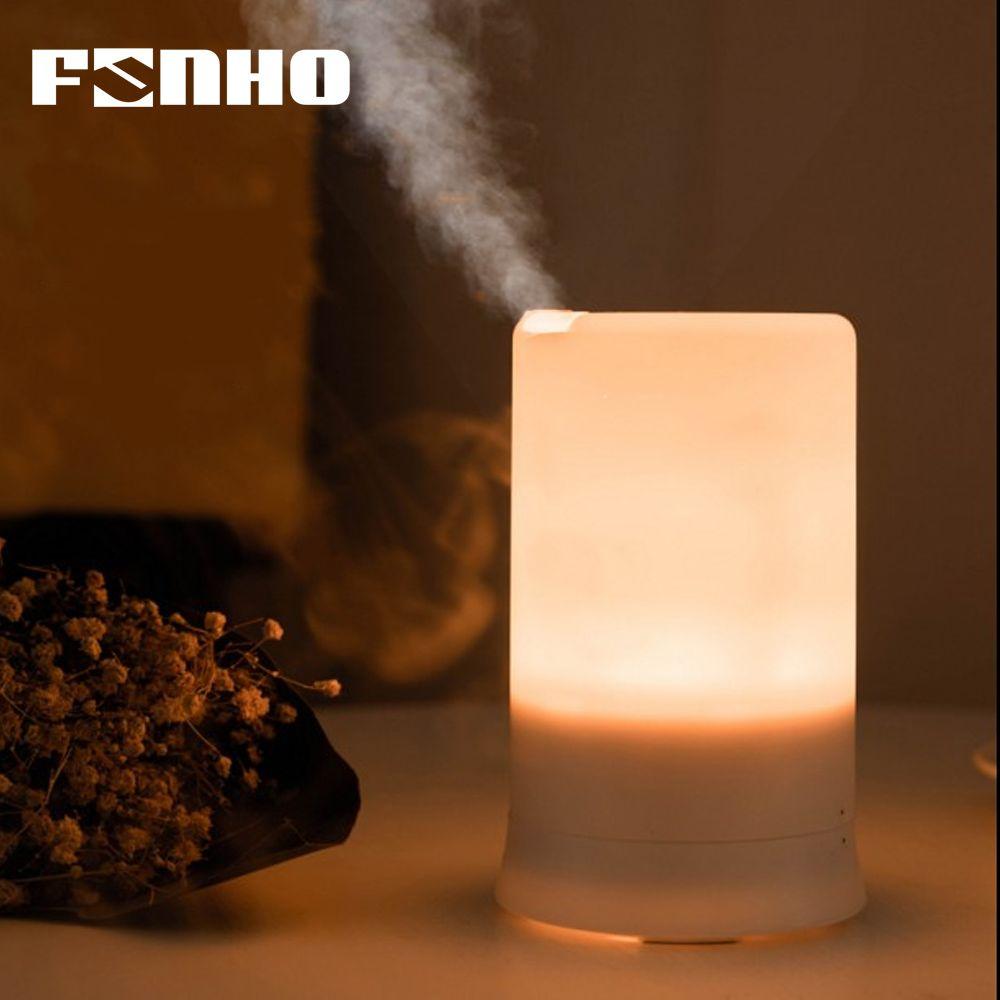 FUNHO humidificateur d'air à ultrasons USB De Charge 5 Couleur led Lumière de Nuit Aromathérapie huile essentielle diffuseur de senteur Pour La Maison 213
