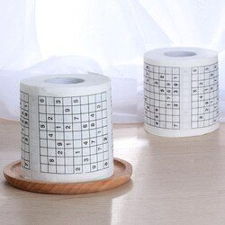 1 Roll 2 layer Wood Pulp Material Creative Funny Game Sudoku roll Toilet Paper Roll Game Facial Tissue Novelty Gift