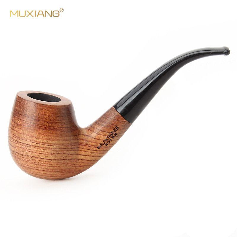 MUXIANG 10 Outils Kit Main Importés kevazingo Tabac à Pipe en bois Plié Style Tuyau 9mm filtre Masculin Cadeau Usine ad0006
