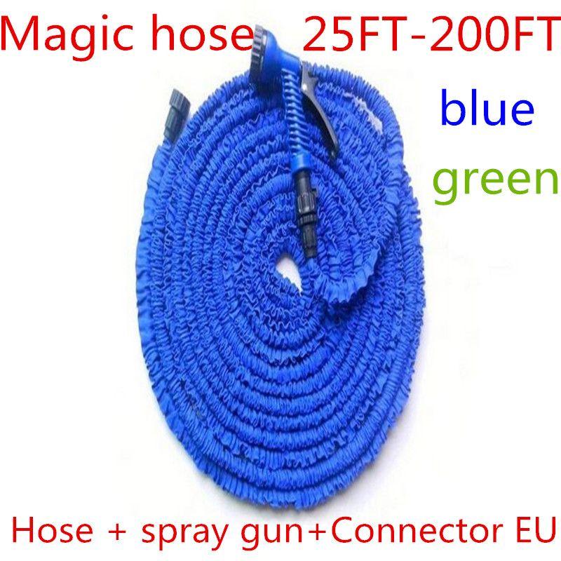 Tuyau d'arrosage Flexible magique extensible à l'arrosage avec pistolet d'arrosage tuyaux d'arrosage pour voiture de jardin connecteur d'arrosage 25-200FT (EU/US)