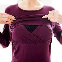 Soins infirmiers Tops Vêtements De Maternité T-shirts Allaitement Vêtements De Maternité T-shirt Grossesse Allaitement Vêtements Pour Les Femmes Enceintes