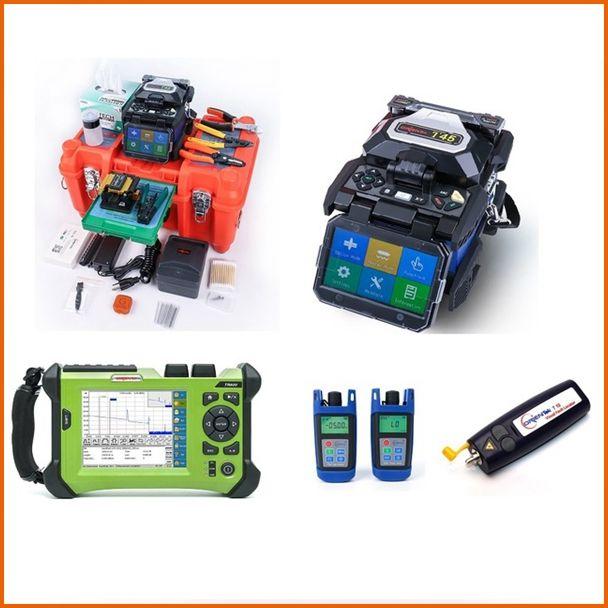 Orientek FTTH Fiber Optic Tool Kit, einschließlich T45 Fusion Splicer, SV20A OTDR Fiber Optic Power Meter Optische Lichtquelle VFL